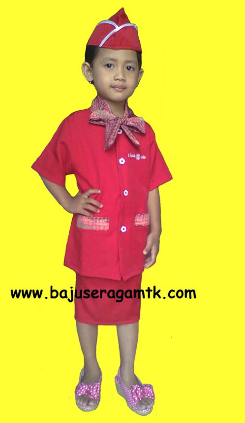 Seragam tk profesi baju seragam profesi anak pramugari harga per