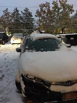 Capital Region State Pensioner Has Lots of Snow on His Car