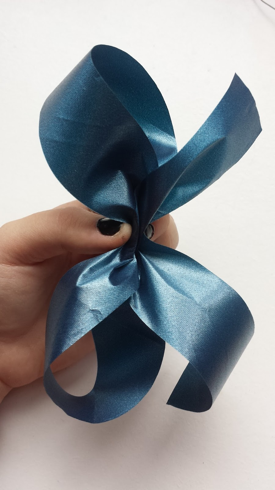 My floristry and gardening blog: How to make a florist poly ribbon bow