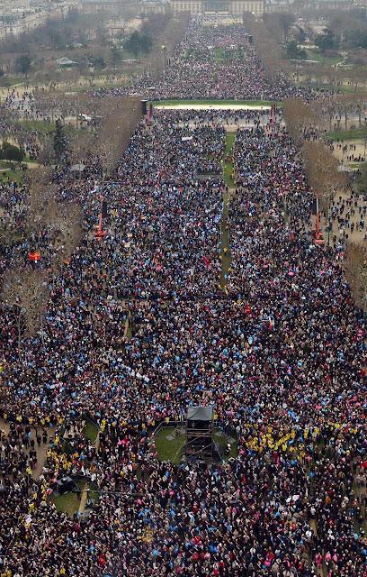 Manifestação contra o 'casamento' homossexual, Paris, janeiro 2013