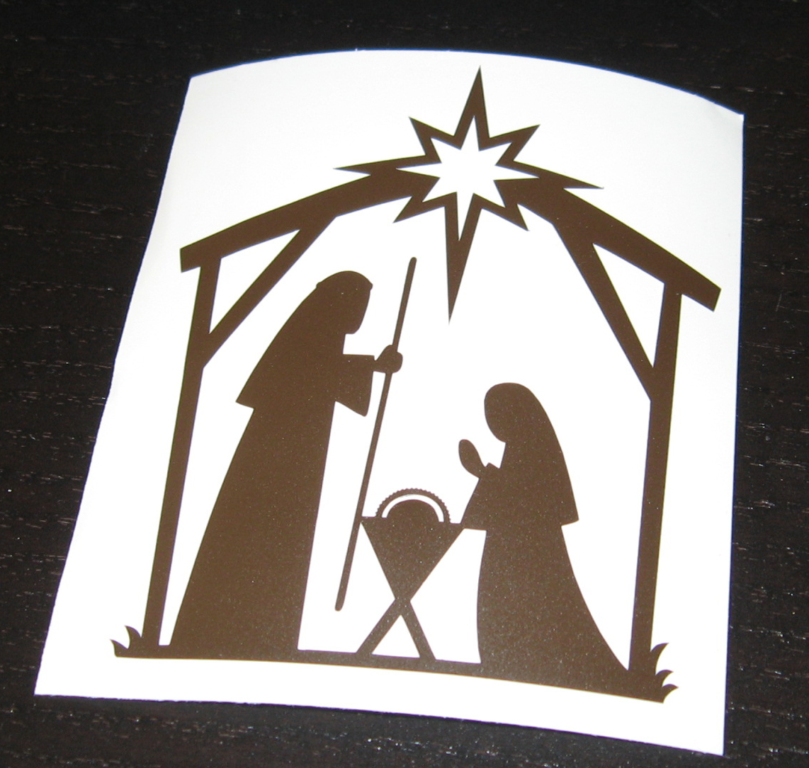 nativity silhouette template to my trusty silhouette