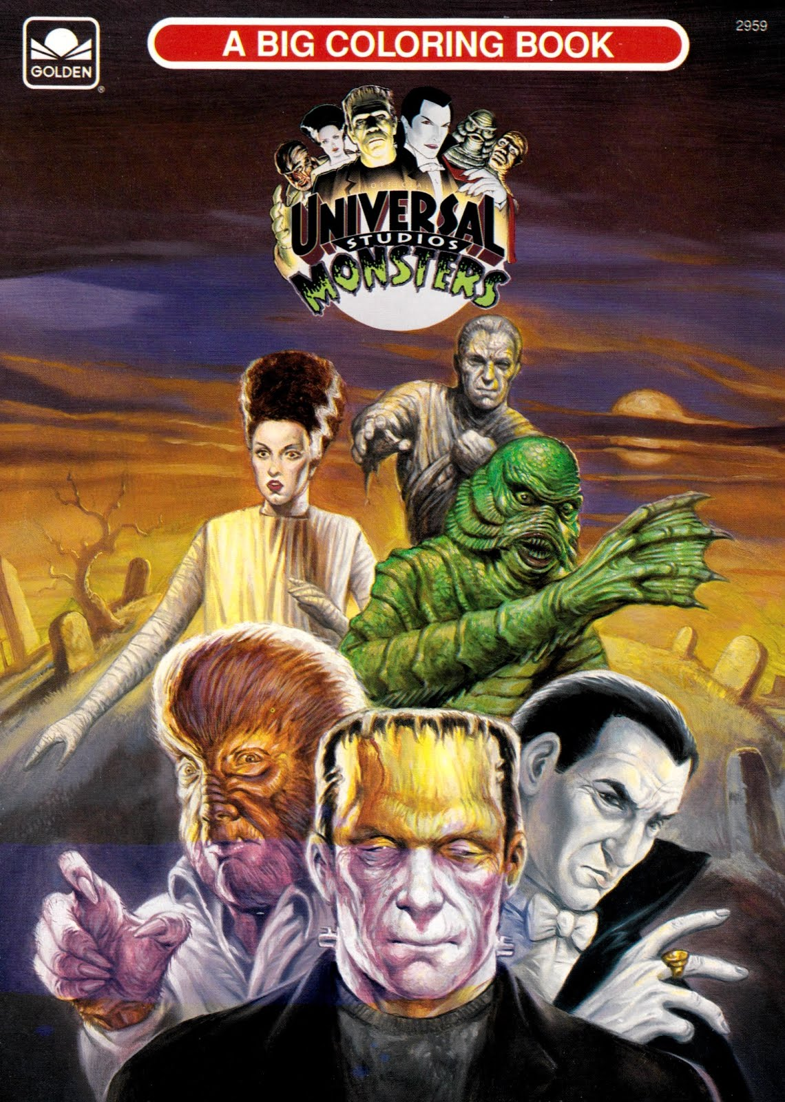 And Everything Else Too Universal Studios Monsters Big Coloring