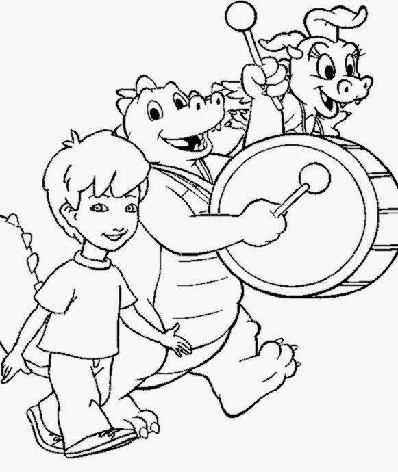 PBS Kids Dragon Tales Coloring