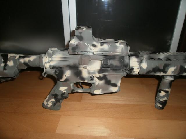 "M4 SD  D-Boys ""Pintura: EME - Custom, CAMO MULTILAND"" P1015956"