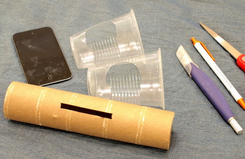 materials to make diy ipod cardboard roll speakers