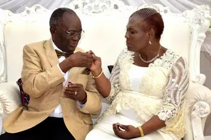 85-Year-Old Reverend Father Weds 74-Year-Old Bride In Lagos