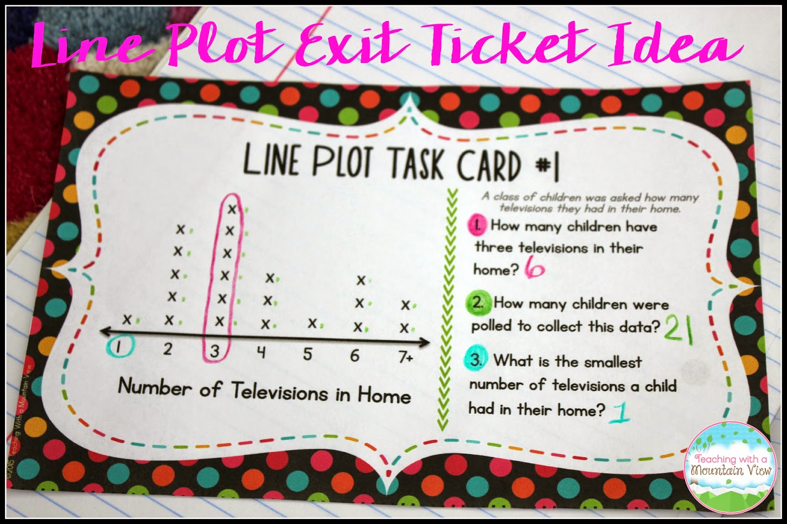 worksheet Line Plot teaching with a mountain view line plot activities and resources the first set of task cards that uses whole numbers is perfect for use as an exit ticket daily warm up center work etc in this ex