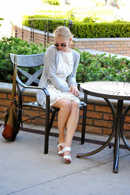 Current Habits White Dress