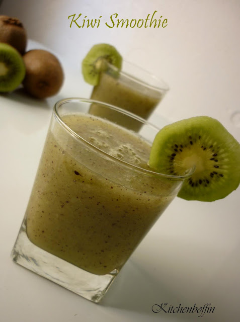 smoothie i often make this kiwi smoothie whenever the kiwis become ...