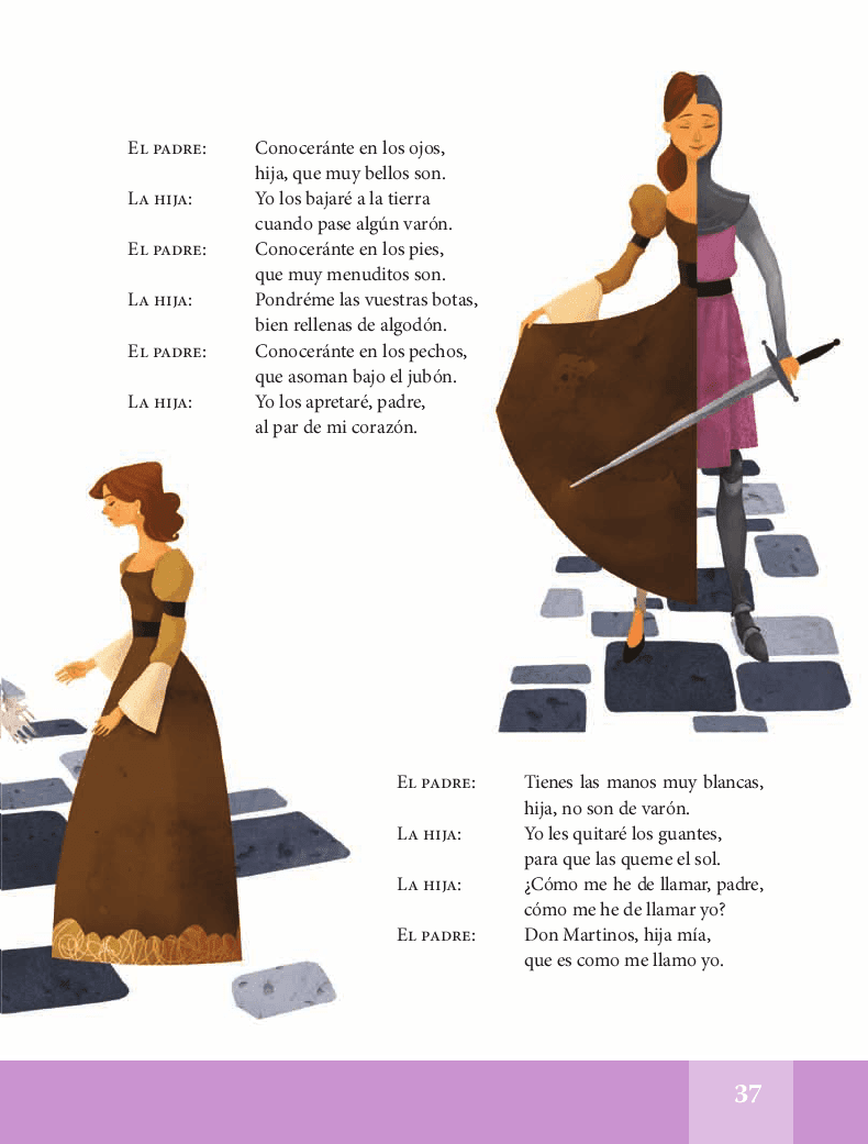 Romance de la doncella guerrera - Español Lecturas 5to 2014-2015