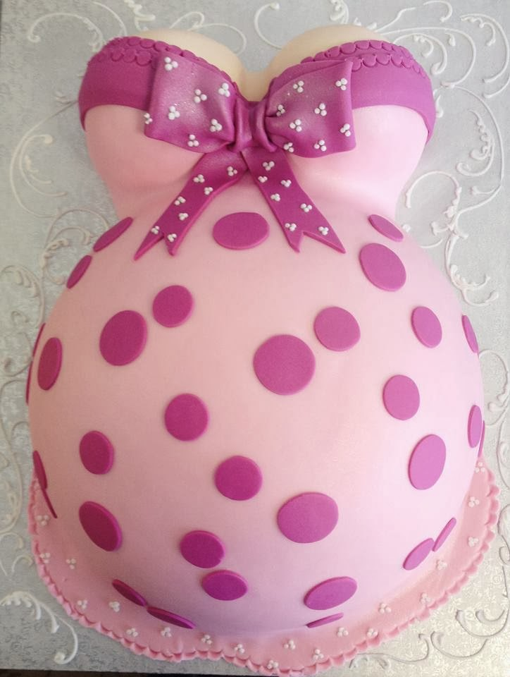 How To Make A Baby Bump Shower Cake