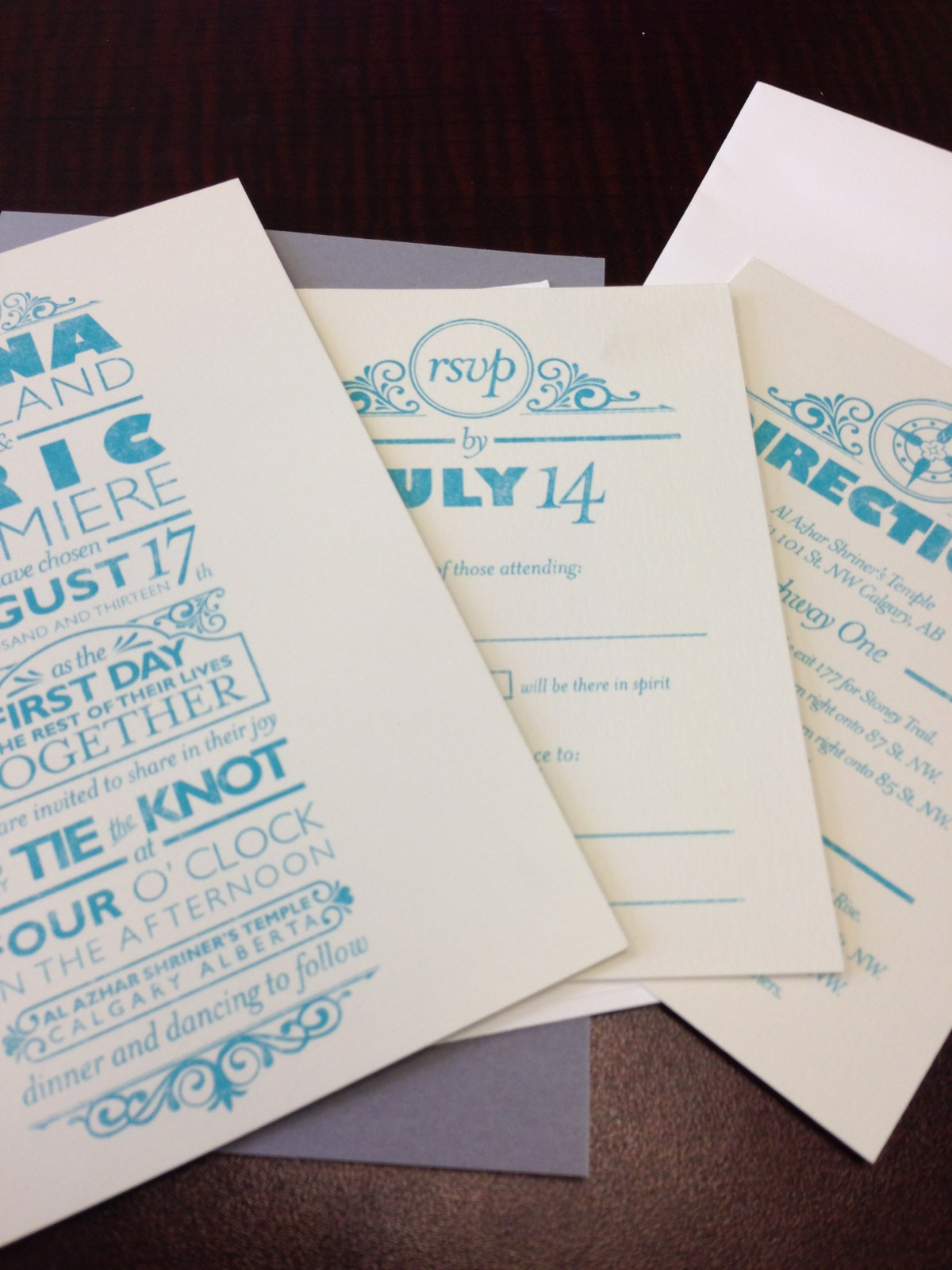 To Market, To Market: Wedding Plans- the Invitations