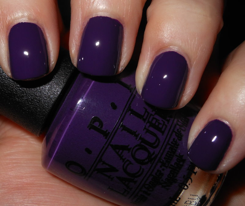 Black Nail Polish Color Names: Imperfectly Painted: OPI Vant To Bite My Neck?