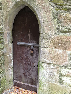 One of the doors of St. David's Church, Naas, Co. Kildare