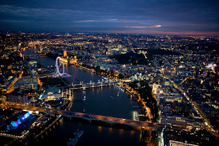 Great night shot of the Thames