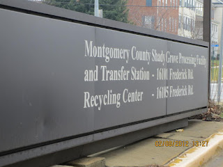 Sign at Recycling Center entrance