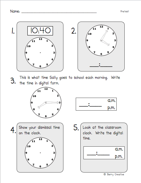 Primary Possibilities 2nd Grade Common Core Math Assessment