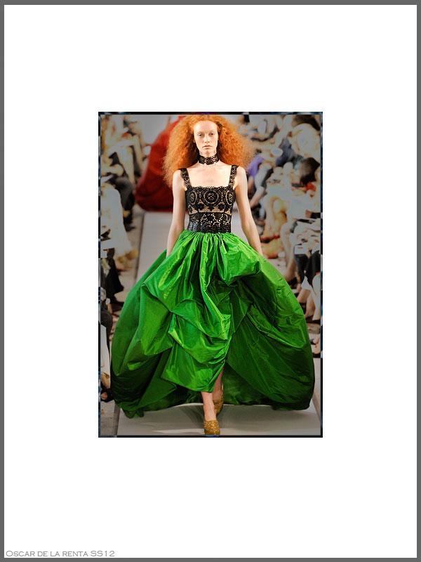 Psynopsis NYFW SS12 Oscar de la Renta Dress