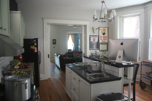 Gray Painted Kitchen Walls 500 x 333