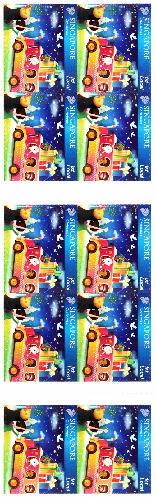 Self-adhesive Stamp Booklet S$2.55 - Christmas