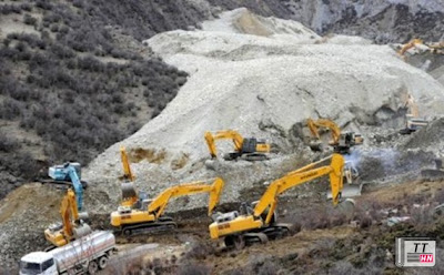 Lở đất chôn vùi 83 thợ mỏ ở Tây Tạng. Ảnh: Xinhua