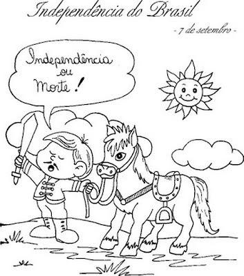 desenho para colorir sete de setembro, dia da independência
