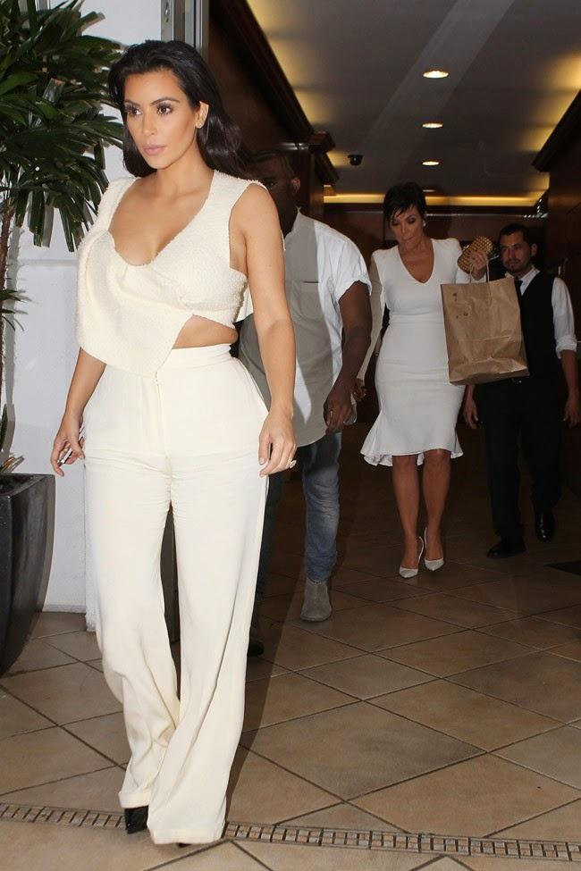 Kim Kardashian and Kanye West dress