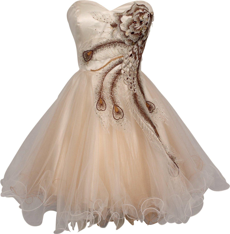 Peacock Prom Dresses Leg