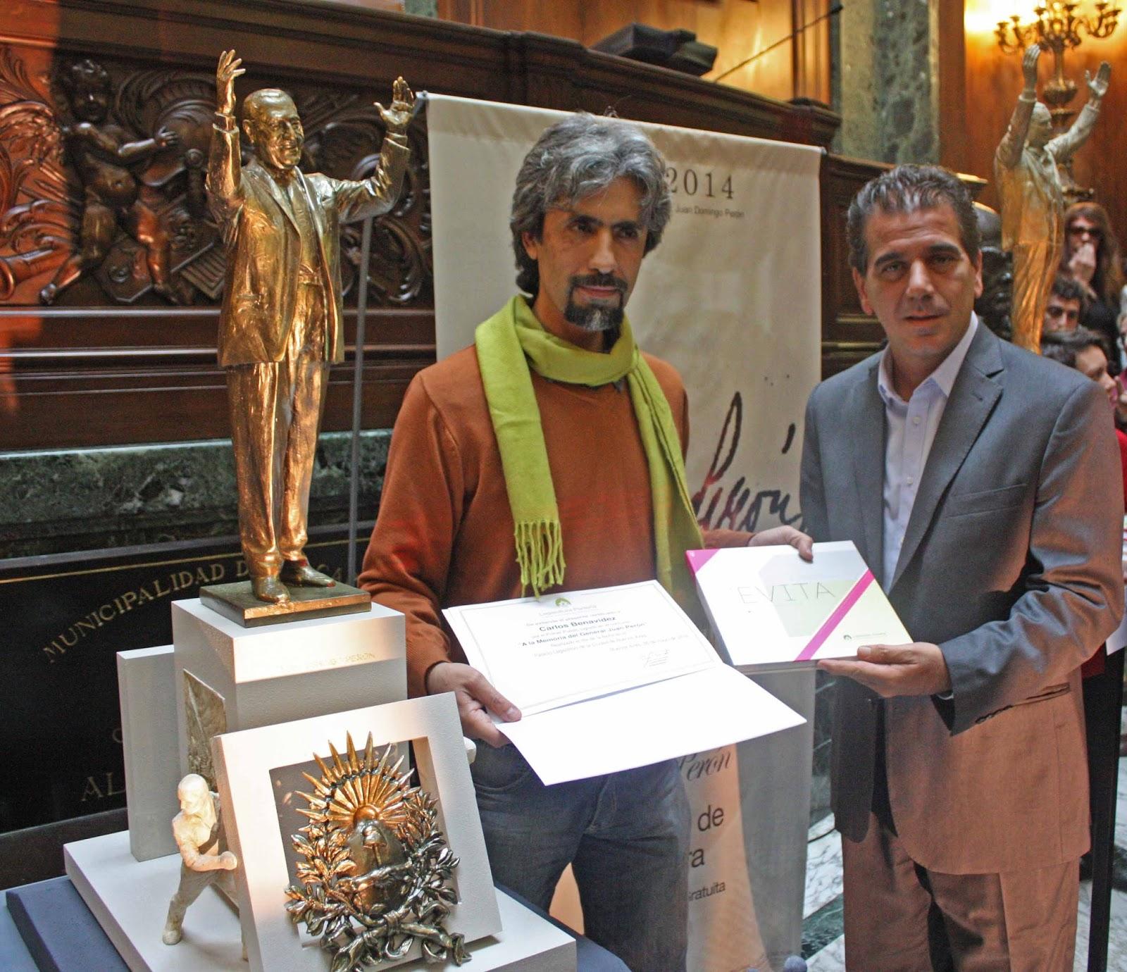 Monumento a Perón ganador del concurso organizado por la Legislatura porteña