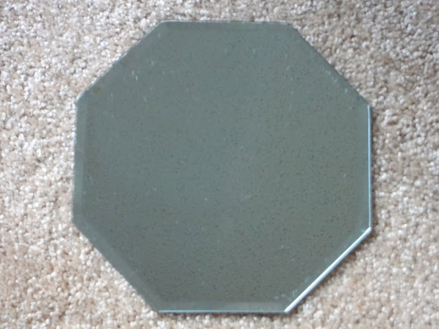octagon mirror tray
