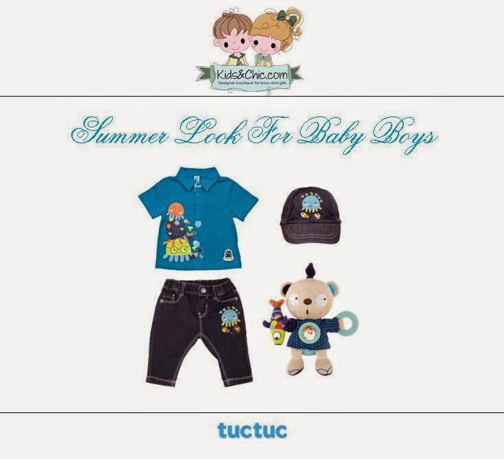 Summer look for baby boys from Tuc Tuc