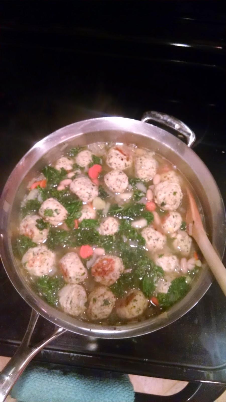 Fit Girl Fare Turkey Meatball Soup