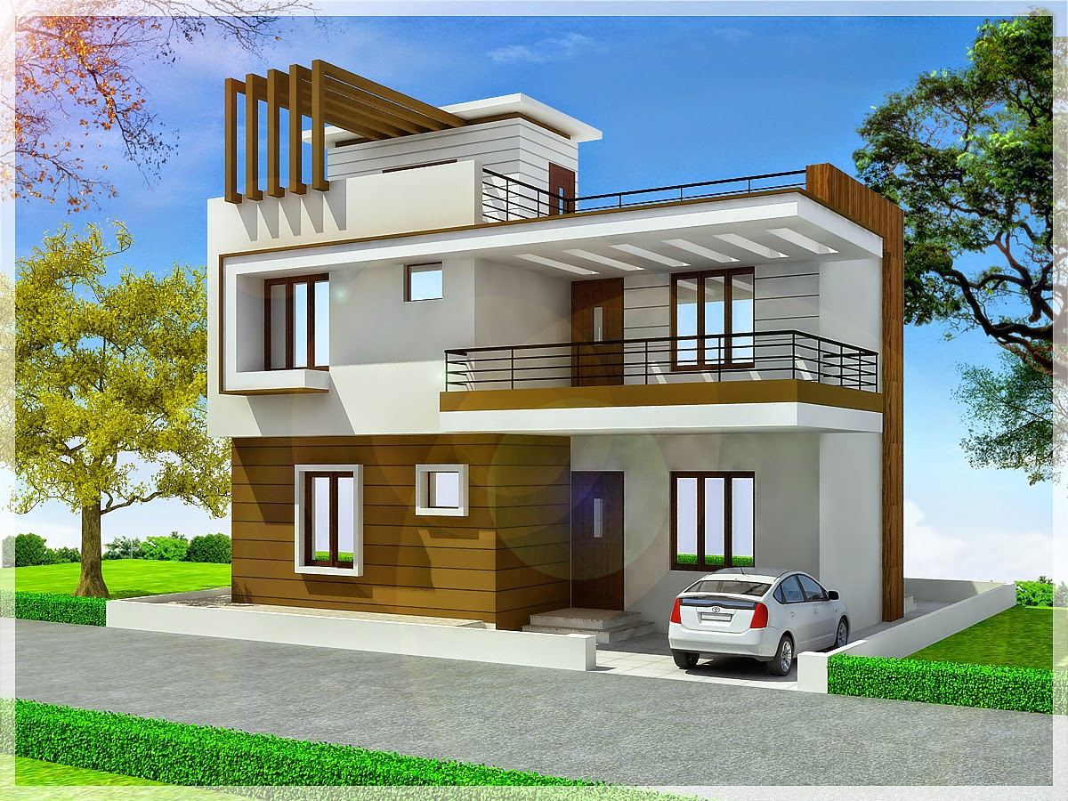 Ghar planner leading house plan and house design drawings provider in india duplex house - Duplex home elevation design photos ...