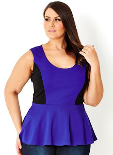 Peplum dress for plus size pear shaped women