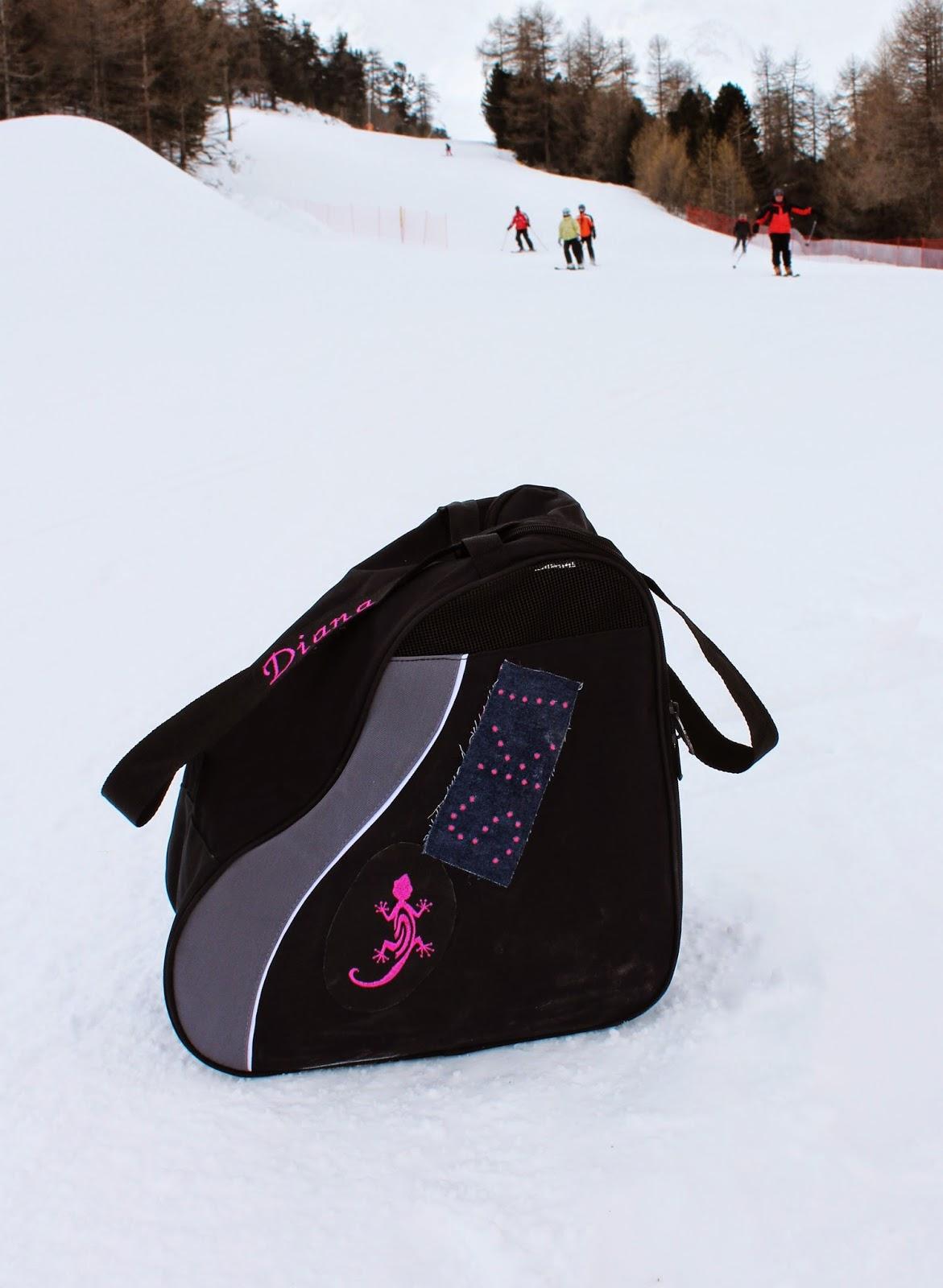 torba na buty narciarskie,decathlon torba na nuty,design DIY jak przerobić torbę, przeróbki szycie DIY blog majsterkowanie,krok po kroku spersonalizowana torba,SKI DIY