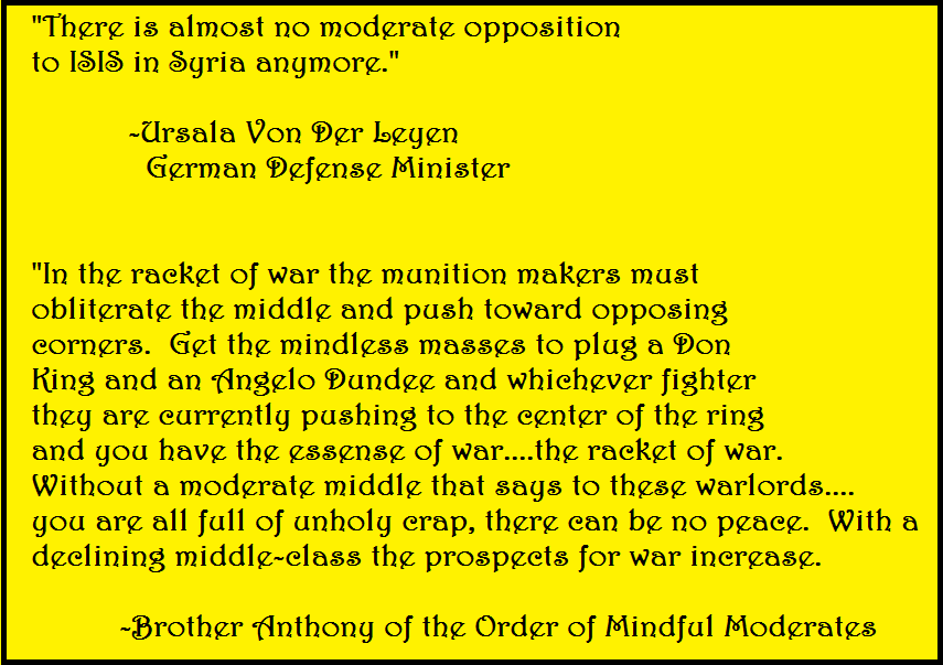War And The Middle/Moderates