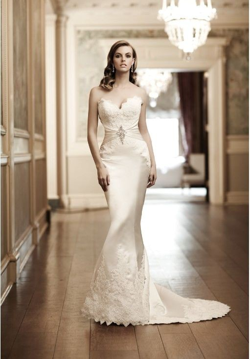 Whiteazalea simple dresses simple mermaid wedding dresses for Satin sweetheart mermaid wedding dress