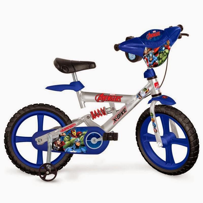 Bicicleta infantil X-Bike Aro 14 Os Vingadores da Bandeirante