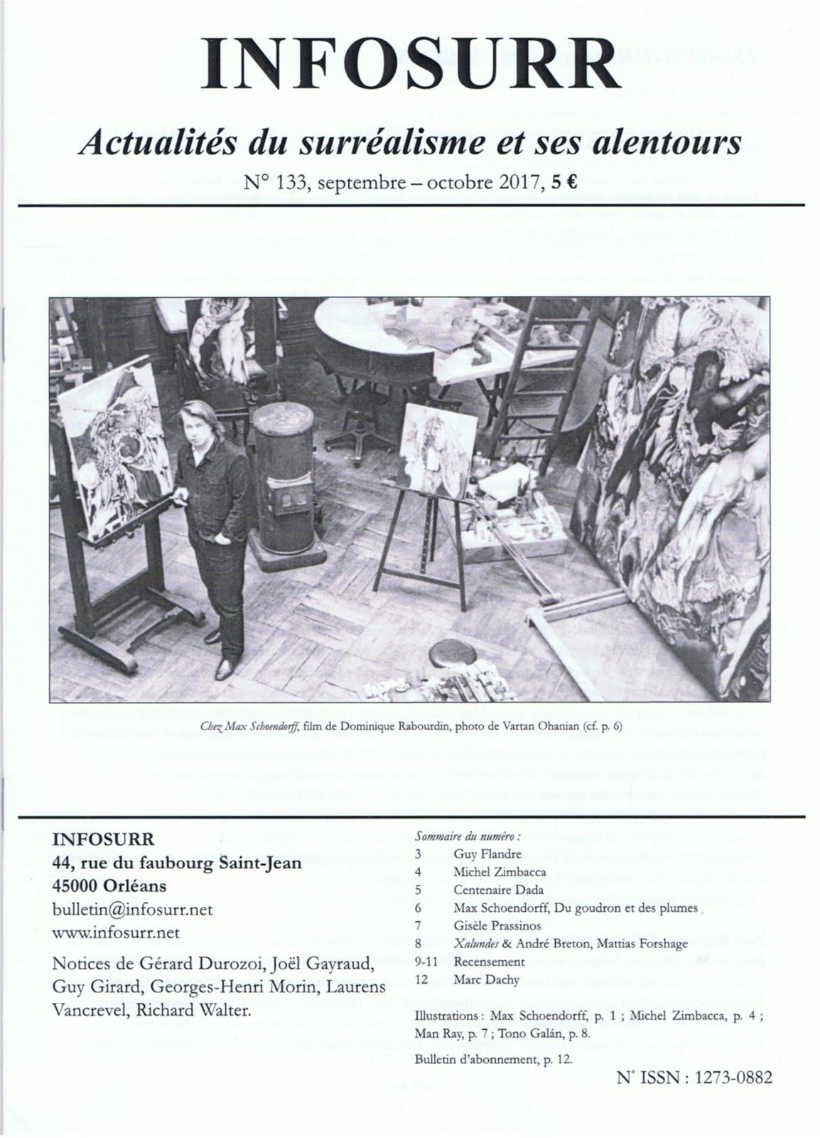 INFOSURR N°133, septembre-octobre 2017 (PARUTION JUIN 2018)