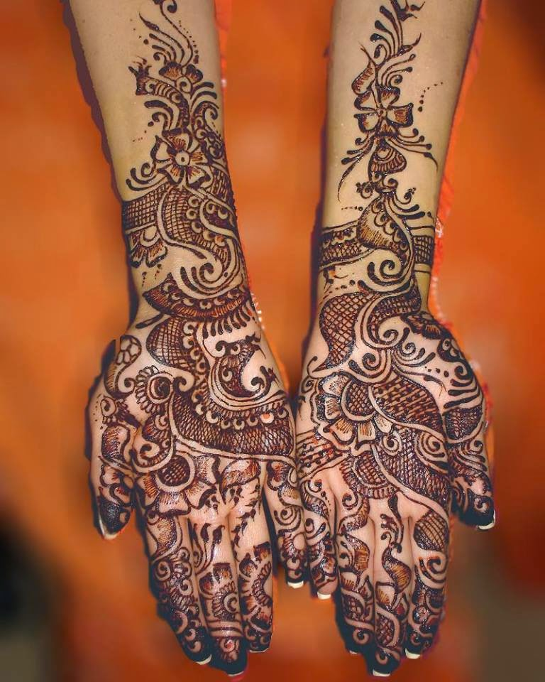 Mehndi Beautiful Design Images : Beautiful latest simple arabic pakistani indian bridal