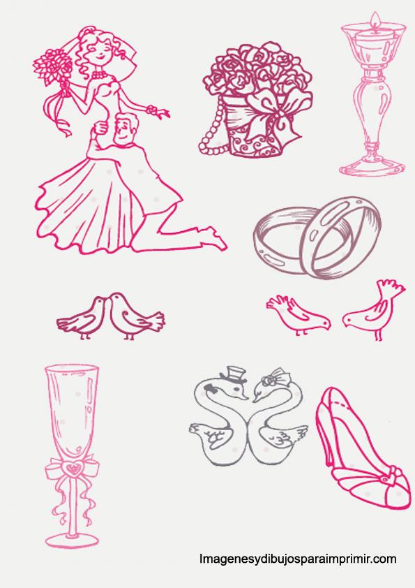de novios dibujos de bodas dibujos de novios y bodas para imprimir ...