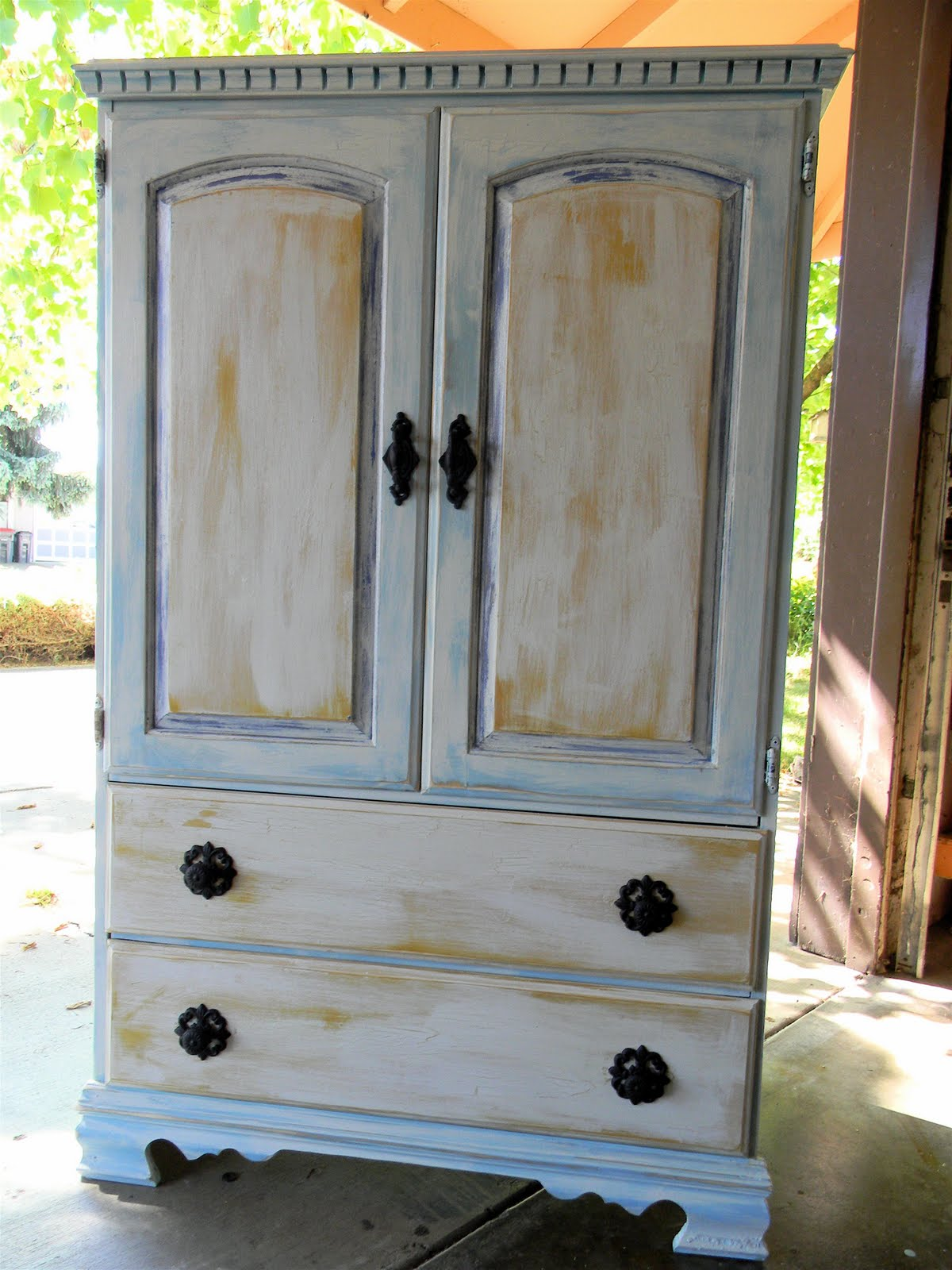 Shabby Chic Armoire Before And After