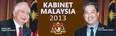 Senarai Penuh Barisan Kabinet Kerajaan Malaysia Tahun 2013-2018