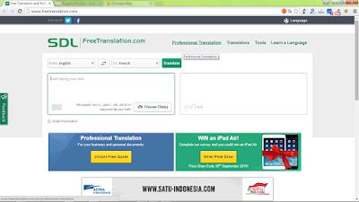 Free Translation, Penerjemah berbagai bahasa