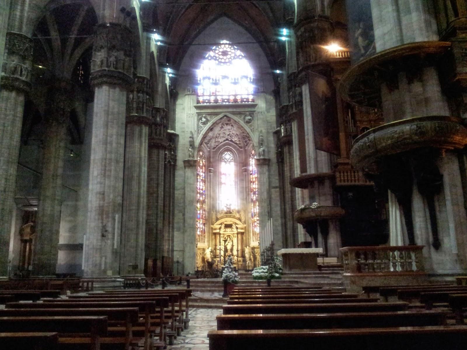 the alter inside the Duomo, Milan