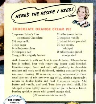chocolate cream pie chocolate orange cream pie chocolate meringue pie ...