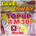 Give Away V12gether TOPUP RM30 2013