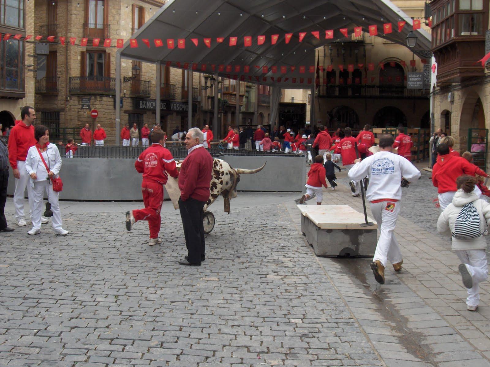 Encierros para niños en Olite