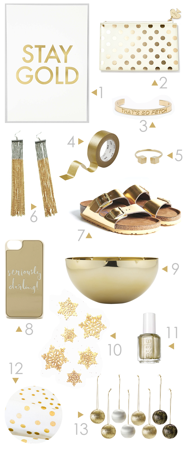 Color Love: GOLD, via Bubby and Bean