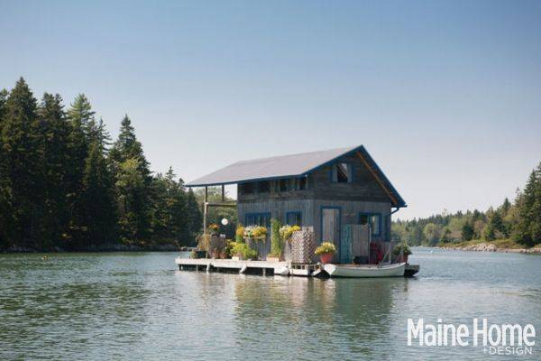240 SQ FT Floating Cabin in Maine TINY HOUSE TOWN
